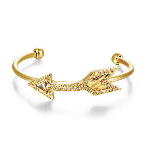 Arrow Gold Cuff Bracelet