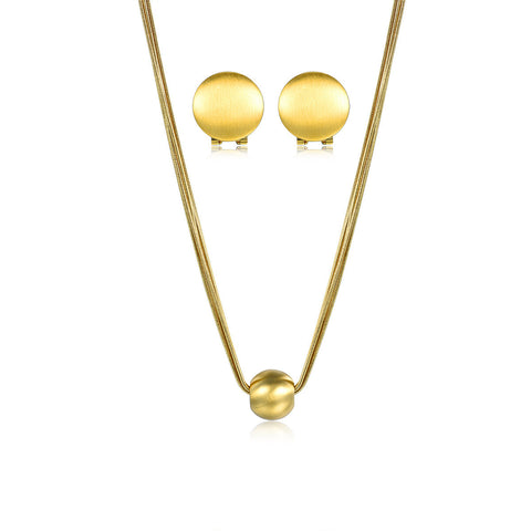 Simple Mind Necklace and Earring Set