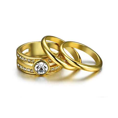 Golden Regent Ring Set