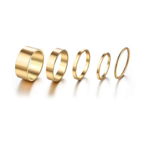 Plain Jane Ring Set
