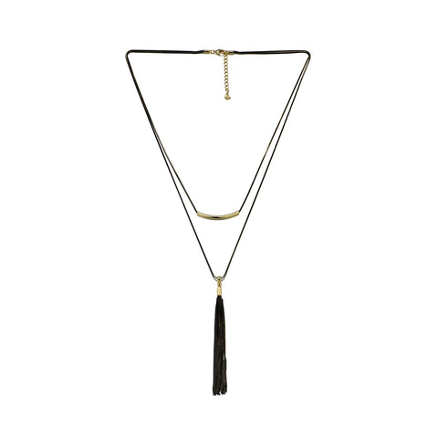 The Black Beauty Tassel Necklace