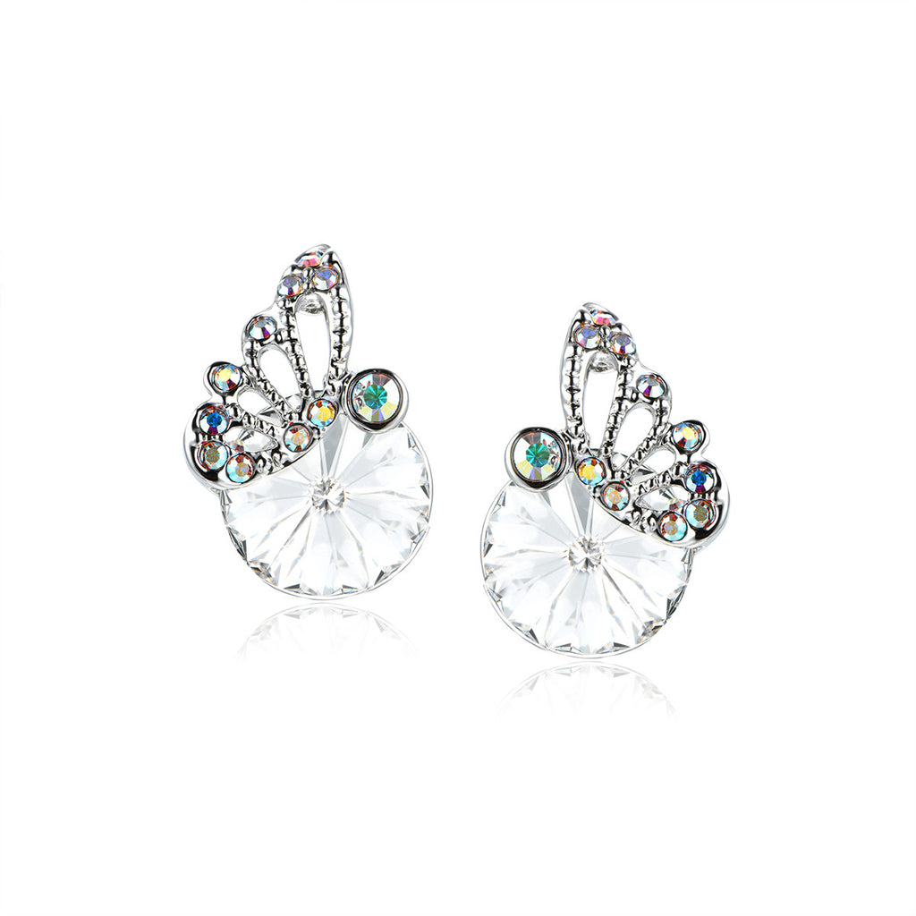 Vintage Butterfly on Crystal Pattern Earrings
