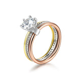 Colorful 3rd Road Design 925 Sterling Silver Silver Statement Ring