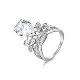 Attractive Crown-shaped Design 925 Sterling Silver Silver Statement Ring