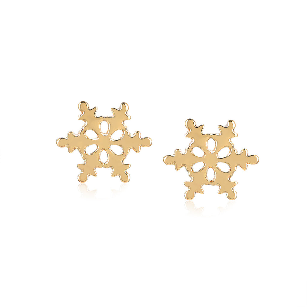Merry Christmas Snowflake Stud Earrings