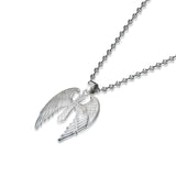 925 Sterling Sliver Guardian Angel Pendant Necklace