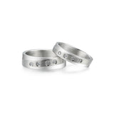 Personalized Glossy Stainless Steel Couple Rings