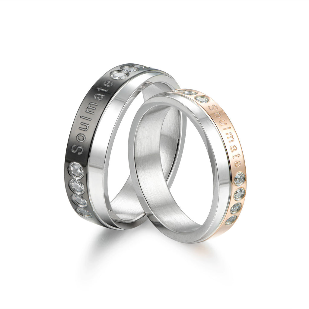 Stainless Steel Couples Rings