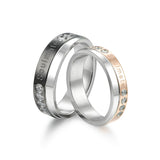 "Personalized ""Soulmate"" Stainless Steel Couples Rings"