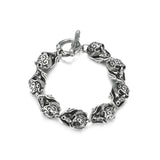 Men's Stainless Steel Head Skull Bracelet