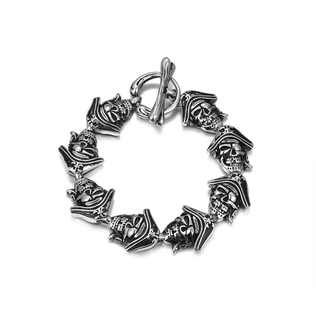 Stainless Steel Pirate Bracelet