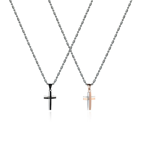 Love Cross Series Titanium Steel Couple Necklaces