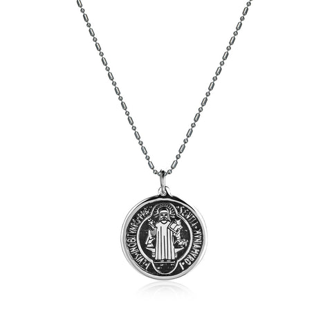 Power of Redemption Titanium Steel Men's Necklace