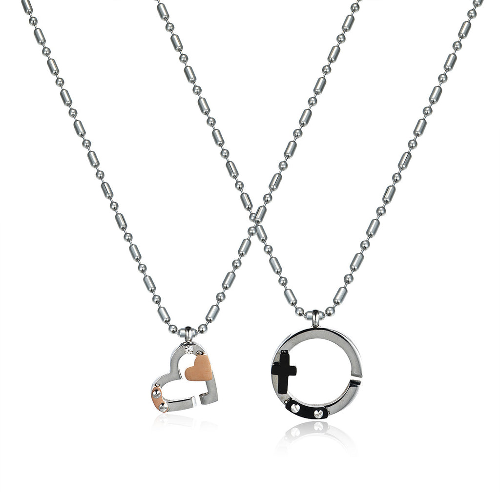 Male&Female Symbols Titanium Steel Necklaces