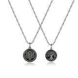 Tree of Life Titanium Steel Couple Necklaces