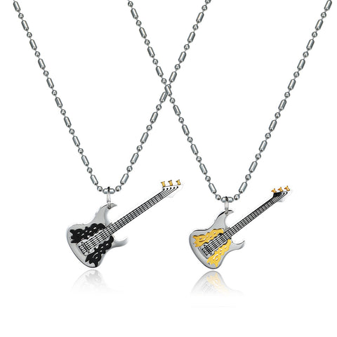 Steel Bass Titanium Steel Couple Necklace