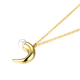 Ox Horn Pearl Necklace