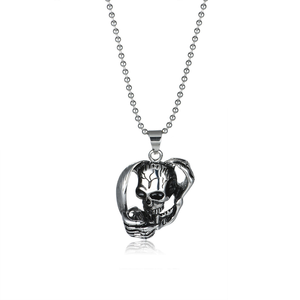 Devil's Embrace Titanium Steel Men's Necklace