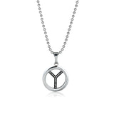 Letter Y Titanium Steel Pendant Men's Necklace
