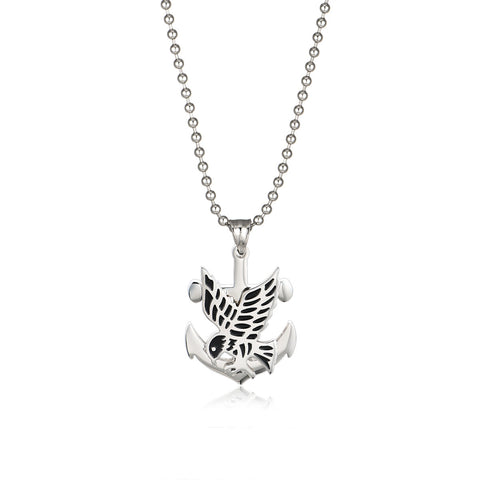Trouble of Fish Titanium Steel Necklace