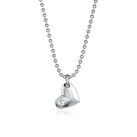 Quiet Heart Titanium Steel Necklace
