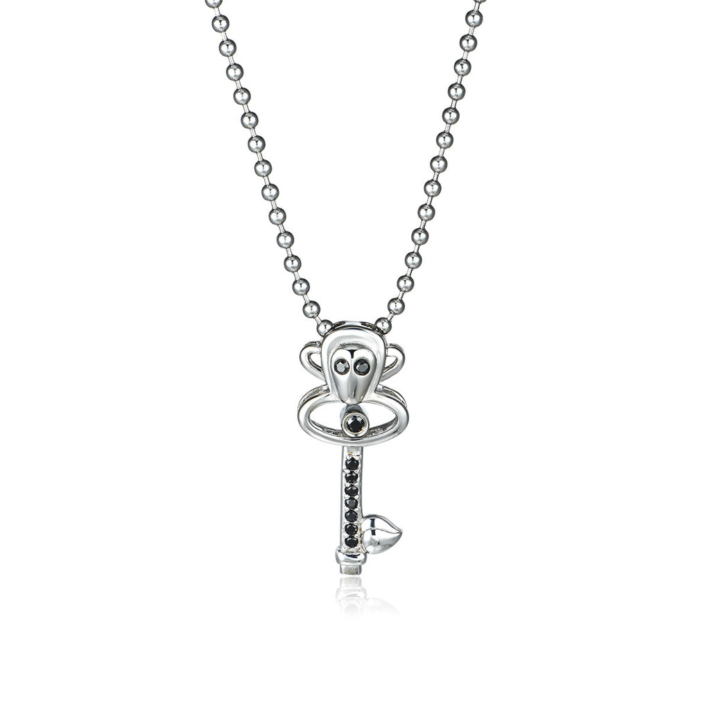 Big Mouth Monkey Titanium Steel Necklace