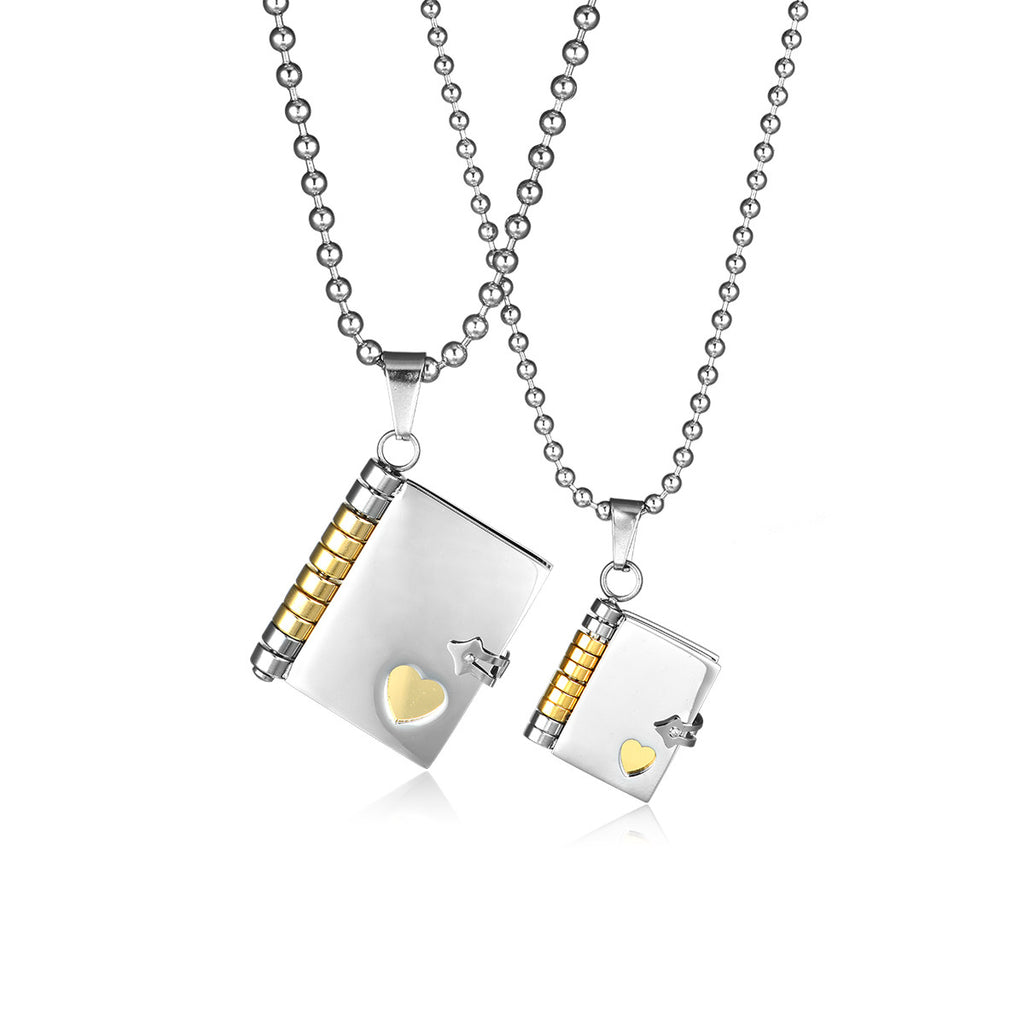 Love the Oath Titanium Steel Couple Necklaces