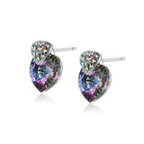 Unique Telesthesia Pattern Earrings with Rhinestone and Crystal