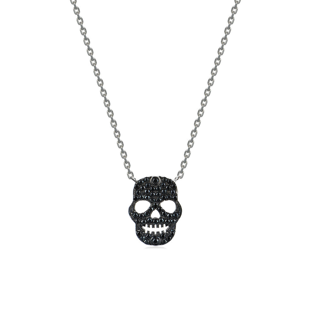 Mysterious Skull 925 Sterling Silver Pendant Necklace