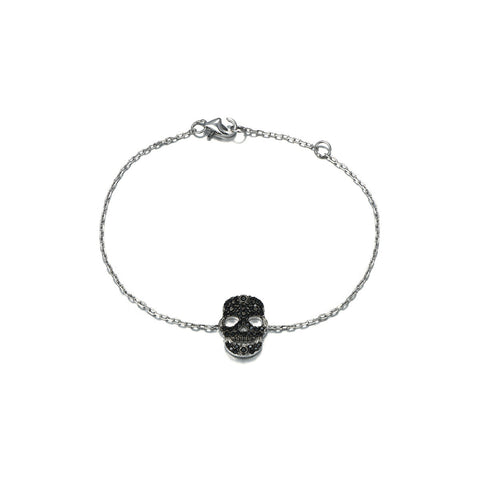 Easy Skull-shaped Design 925 Sterling Silver Bracelet for Women