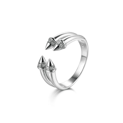 Attractive Compitition 925 Sterling Silver Silver Statement Ring
