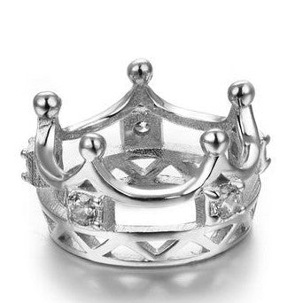 Fantastic Princess' Crown 925 Sterling Silver Pendant Necklace With Chain