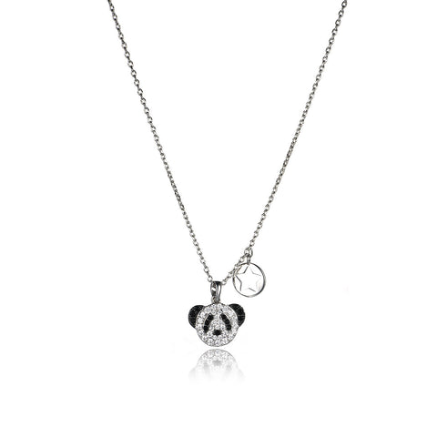 Fashion Little Panda with Rhinestone Pendant Necklace