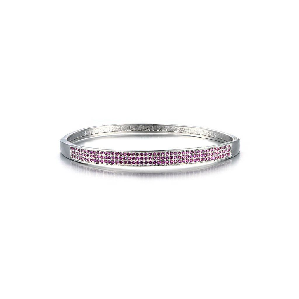 Luxurious Triple Lines Pink Rhinestone Enbraced Bracelet