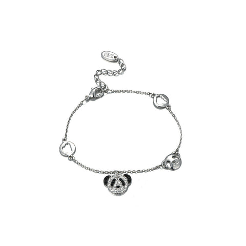 Cartoon Little Panda with Rhinestone Pendent Necklace