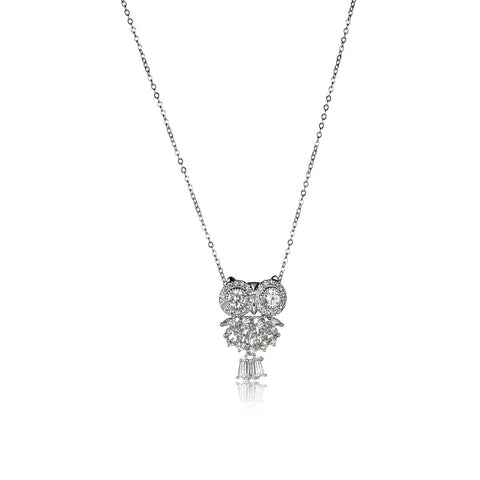 Distinctive Owl Pattern  Pendant Necklace