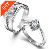 Elegant Luxury 925 Sterling Silver Couple Rings