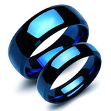 Our Love Pure As the Sea Noble Ocean Blue Couple Rings