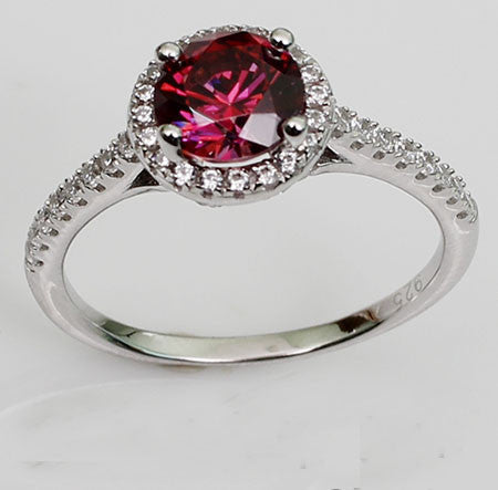 Exquisite Cut Pigeon Blood Red Ruby Diamond Engagement Ring