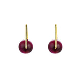 Planet Trap Rose Red Tiger's Eye Stud Earrings