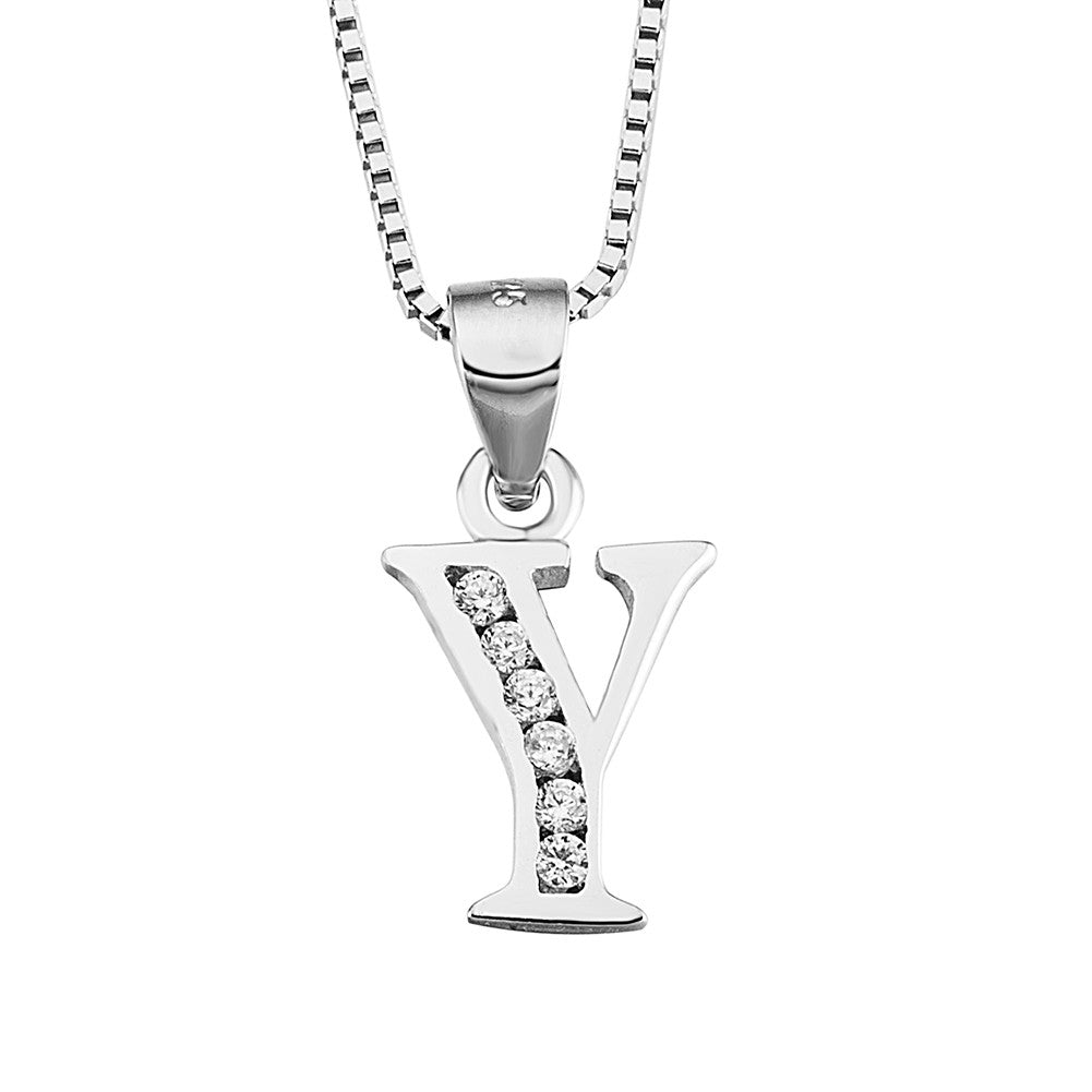 knot initial celtic pendant in sterling cz pendants silver necklace chain with necklaces pattern l