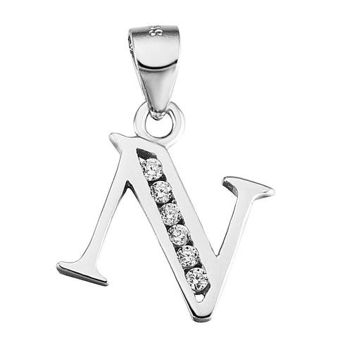 Initial Letter N Alphabet Necklace