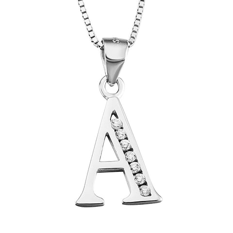 Initial Letter A Alphabet Necklace