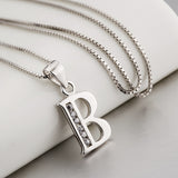 Women's Sterling Silver Initial Pendant Necklace