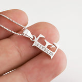 Initial Letter E Alphabet Necklace