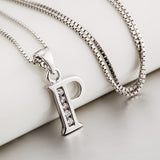 Letter P pendant Necklace