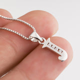 Alphabet Letter J Pendant Necklace