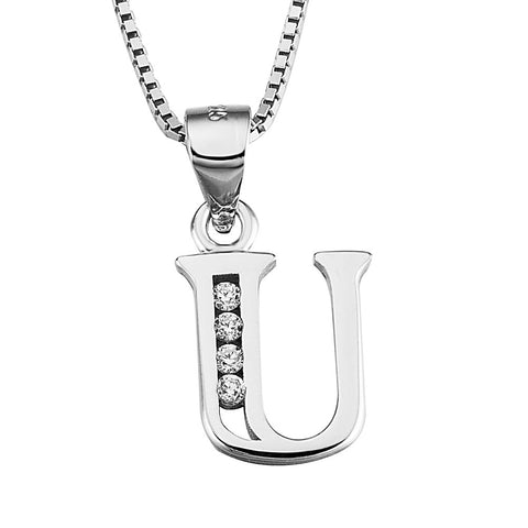 Miss U Silver Pendant Necklace