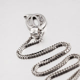 Letter Q Sterling Silver Necklace
