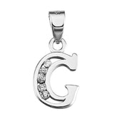 Initial Necklace in Sterling Silver Letter G